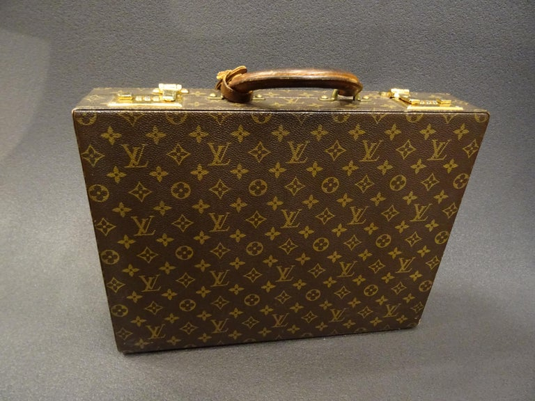 Hand-Crafted Louis Vuitton 70s Briefcase  Attaché-Case President