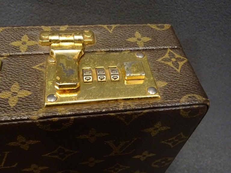 Brass Louis Vuitton 70s Briefcase  Attaché-Case President