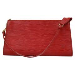 Louis Vuitton Accessoire Clutch in red épi leather
