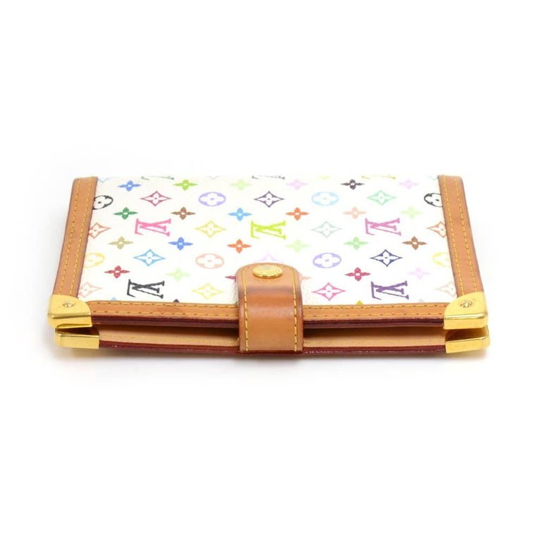 Louis Vuitton Agenda PM White Multicolor Monogram Canvas Agenda Cover  In Good Condition For Sale In Fukuoka, Kyushu