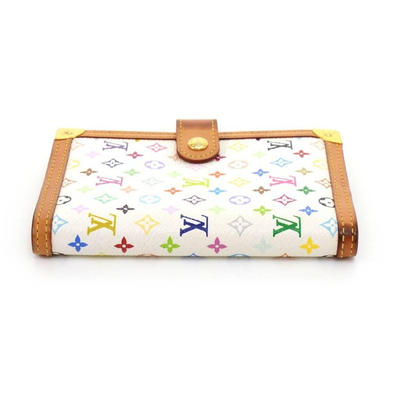 Louis Vuitton Agenda PM White Multicolor Monogram Canvas Agenda Cover  For Sale 1