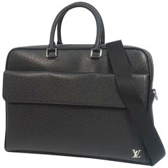 LOUIS VUITTON Alex briefcase Mens business bag M30440 black( Ardoise)