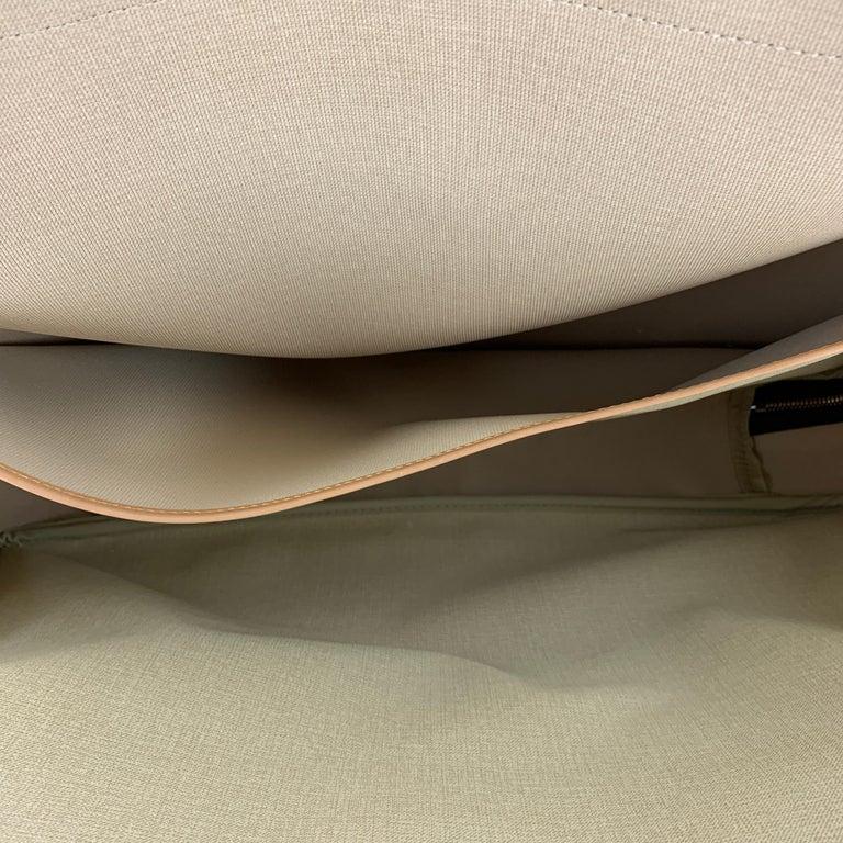 LOUIS VUITTON Alize 2 Poches Brown Leather Monogram Vachetta Trim Canvas Bag For Sale 6