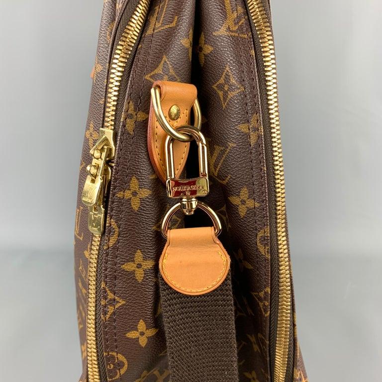 LOUIS VUITTON Alize 2 Poches Brown Leather Monogram Vachetta Trim Canvas Bag For Sale 3
