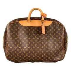 LOUIS VUITTON Alize 2 Poches Brown Leather Monogram Vachetta Trim Canvas Bag