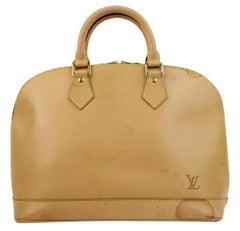 Louis Vuitton Alma Anniversary Jlvlm165 Natural Leather Satchel
