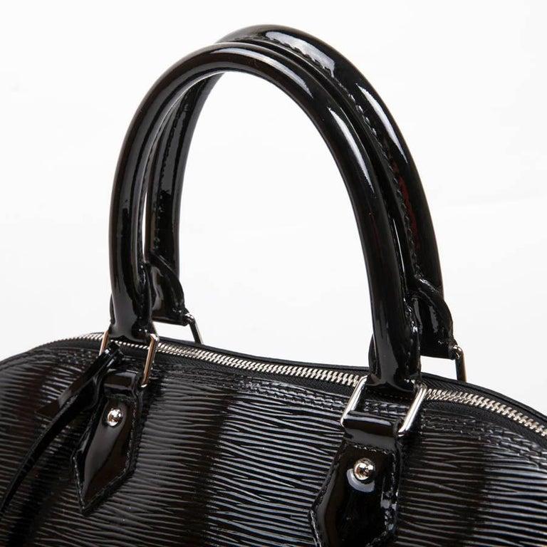 1257df04145 Louis Vuitton Black Patent Epi Leather Large Model Alma Bag at 1stdibs