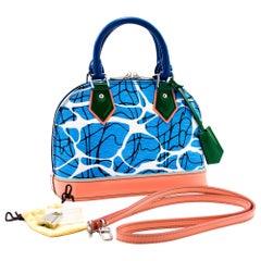 Louis Vuitton Alma BB Limited Epi Aqua Light Blue Bag Handbag 2Way