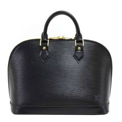 Louis Vuitton Alma Black Epi Leather Hand Bag