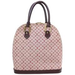 df0f95e53261 Louis Vuitton Alma Bordeaux Mini Lin Haut 870016 Red Canvas Shoulder Bag