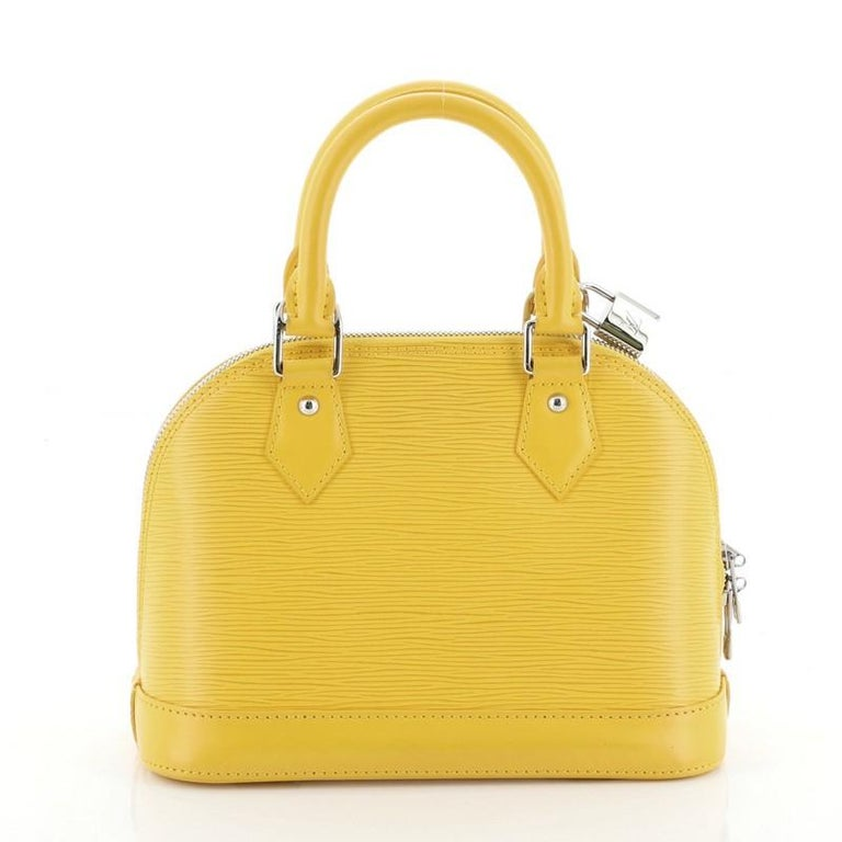 Women's or Men's Louis Vuitton Alma Handbag Epi Leather BB For Sale