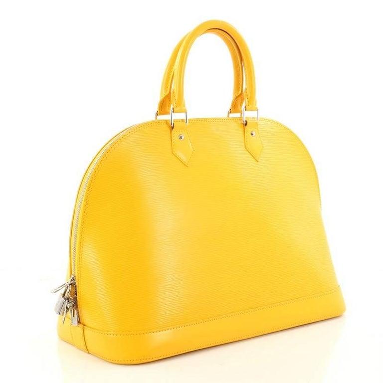 Louis Vuitton Yellow Epi Alma Bag aede4fa7b4384