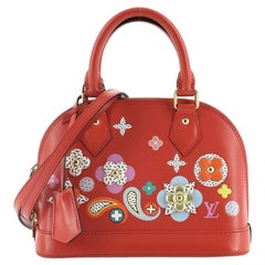 Louis Vuitton Alma Handbag Limited Edition Floral Patchwork Epi Leather BB