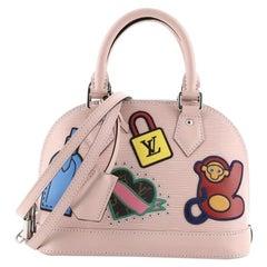 Louis Vuitton Alma Handbag Limited Edition Stickers Epi Leather BB