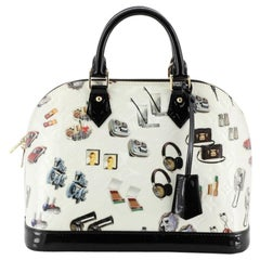 Louis Vuitton Alma Handbag Limited Edition Stickers Monogram Vernis PM