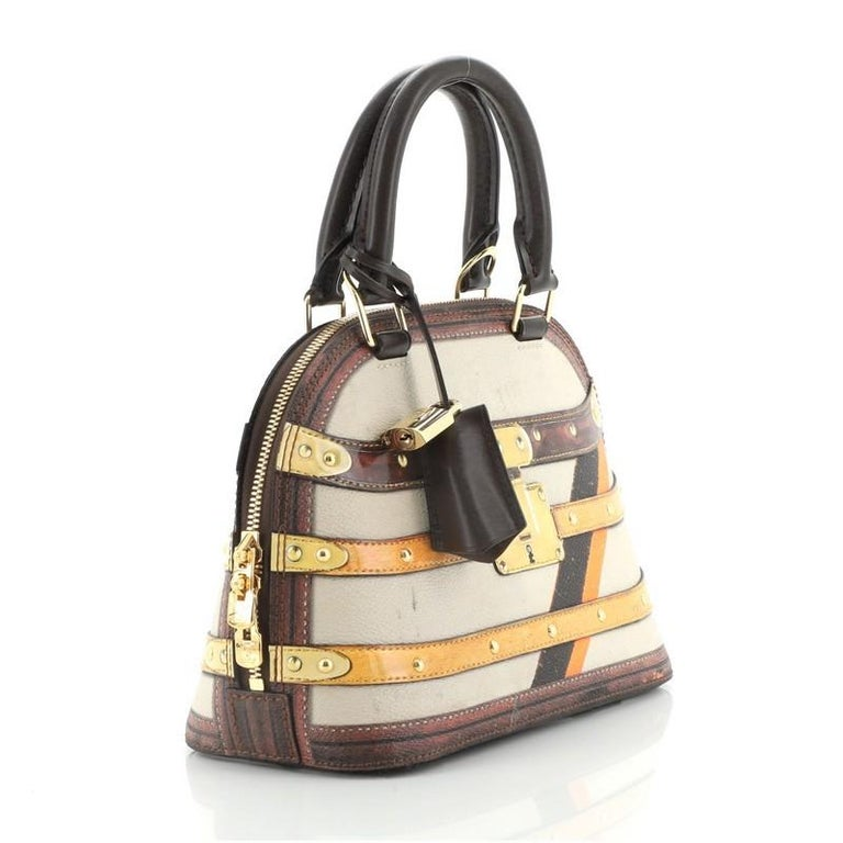 Louis Vuitton Alma Handbag Limited Edition Time Trunk BB In Good Condition For Sale In New York, NY