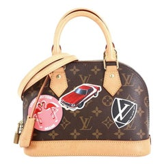 Louis Vuitton Alma Handbag Limited Edition World Tour Monogram Canvas BB