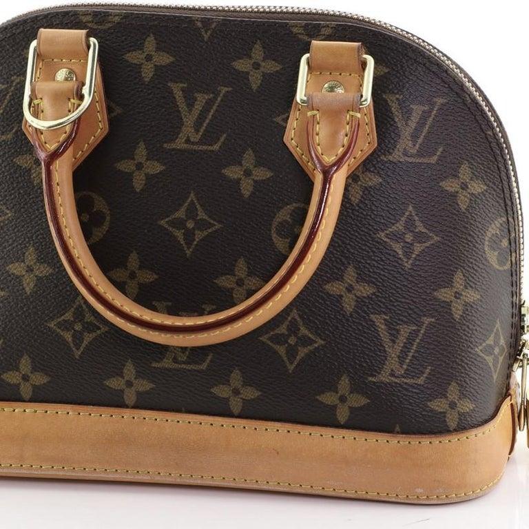 Louis Vuitton Alma Handbag Monogram Canvas BB 6