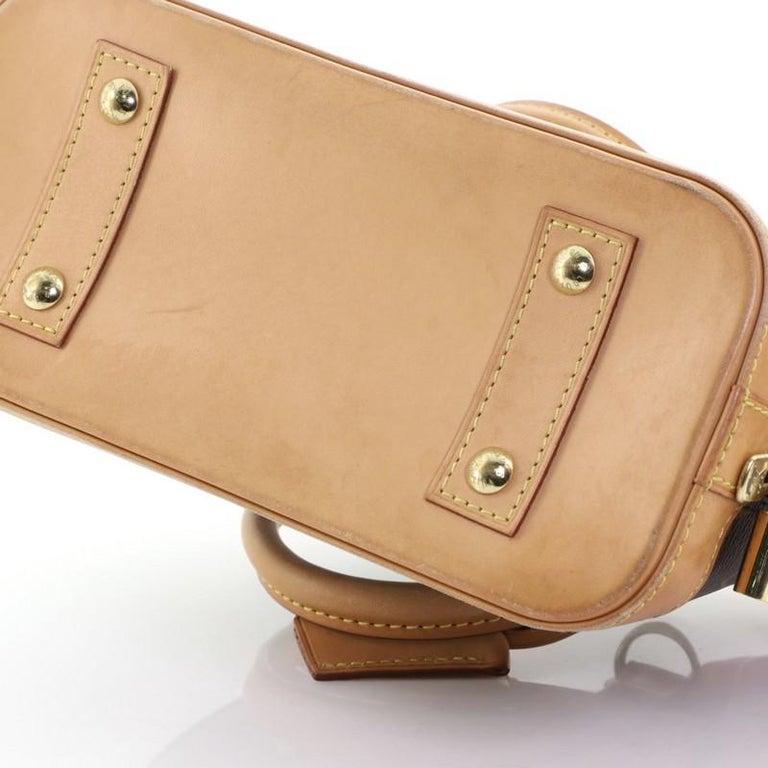 Louis Vuitton Alma Handbag Monogram Canvas BB 7