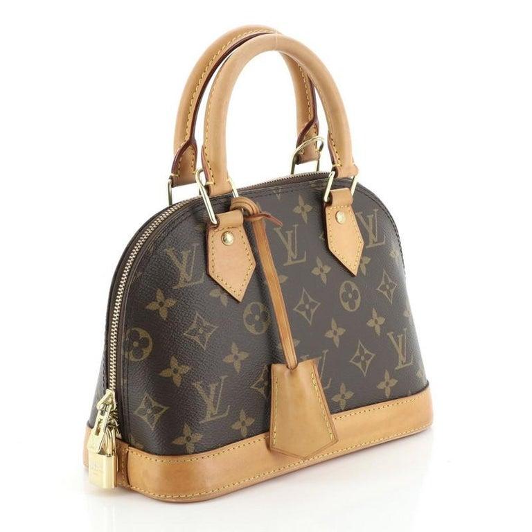 Louis Vuitton Alma Handbag Monogram Canvas BB In Fair Condition In New York, NY