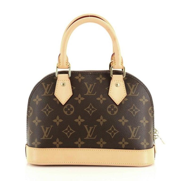 Louis Vuitton Alma Handbag Monogram Canvas BB In Good Condition For Sale In New York, NY