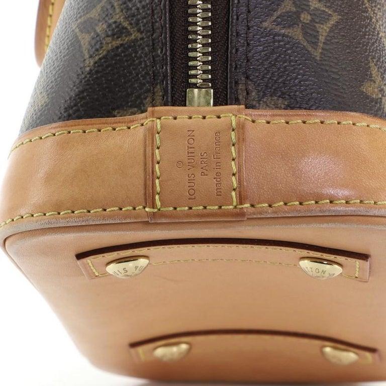 Louis Vuitton Alma Handbag Monogram Canvas BB 5