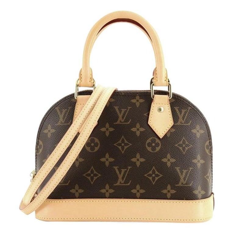 Louis Vuitton Alma Handbag Monogram Canvas BB For Sale