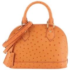 Louis Vuitton Alma Handbag Ostrich BB