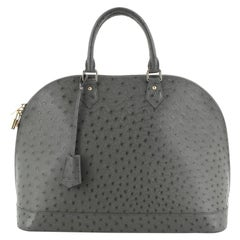 Louis Vuitton Alma Handbag Ostrich GM