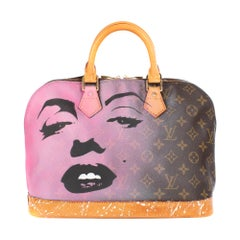 "Louis Vuitton Alma Monogram customized ""Marilyn for Ever"" by the artist PatBo !"