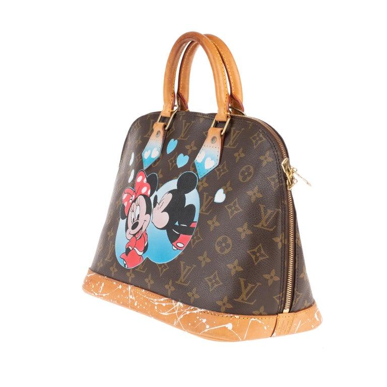 Brown Louis Vuitton Alma Monogram customized