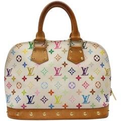 3be20cf09193 Louis Vuitton Alma Multicolor Blanc Pm 868555 White Coated Canvas satchel. Louis  Vuitton Sherwood Handbag Monogram Vernis PM