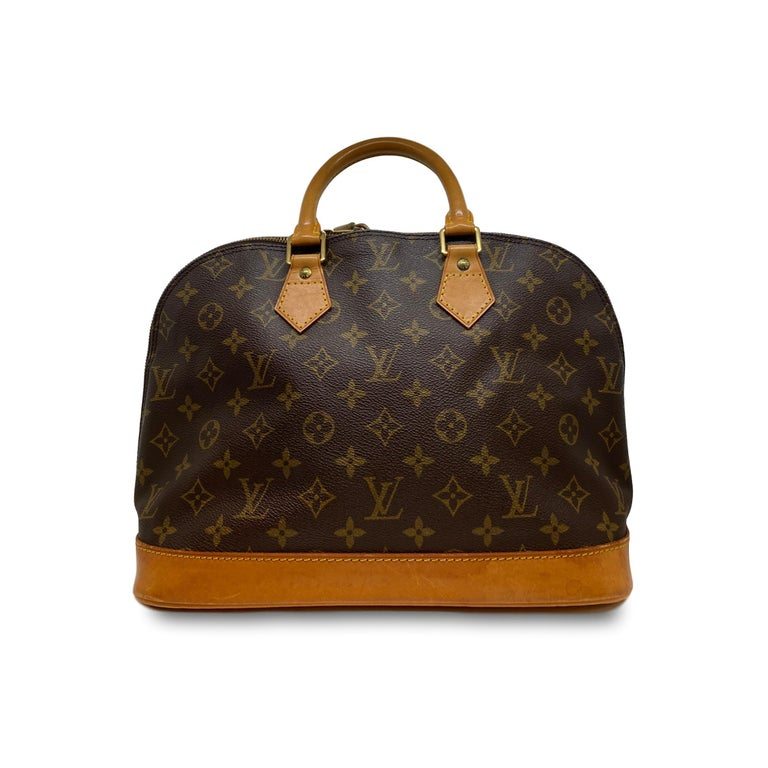Black Louis Vuitton Alma PM Monogram Top Handle Handbag, France 1995. For Sale
