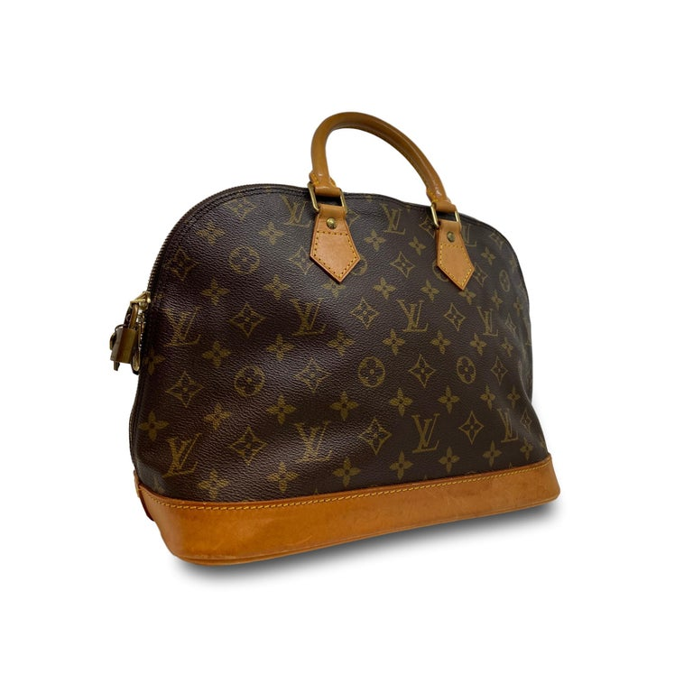 Louis Vuitton Alma PM Monogram Top Handle Handbag, France 1995. In Fair Condition For Sale In Banner Elk, NC