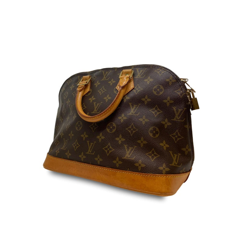 Women's or Men's Louis Vuitton Alma PM Monogram Top Handle Handbag, France 1995. For Sale