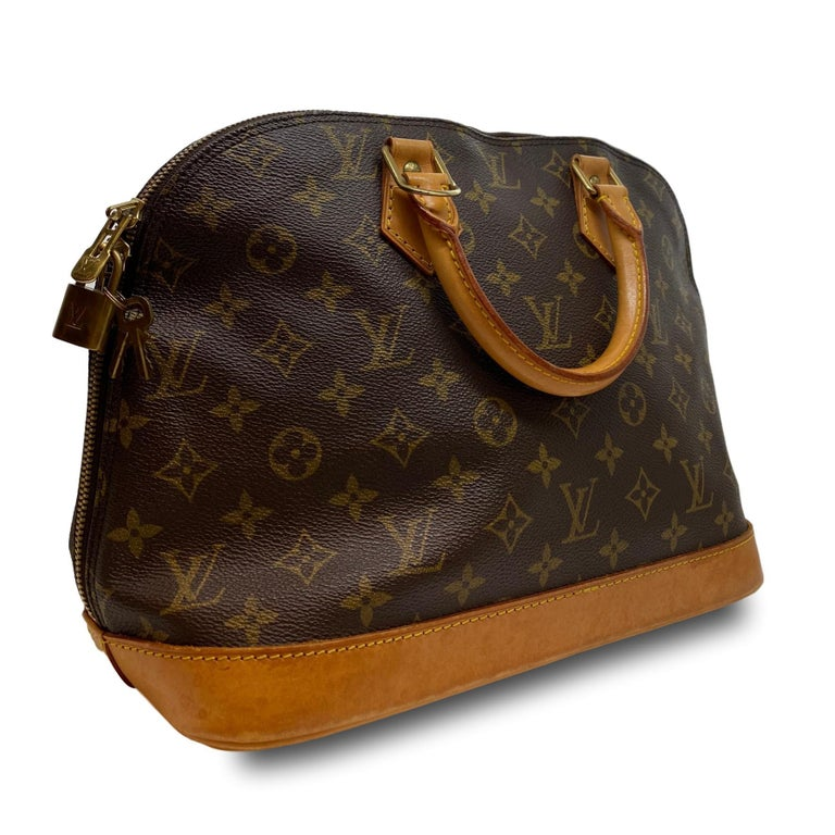 Louis Vuitton Alma PM Monogram Top Handle Handbag, France 1995. For Sale 1
