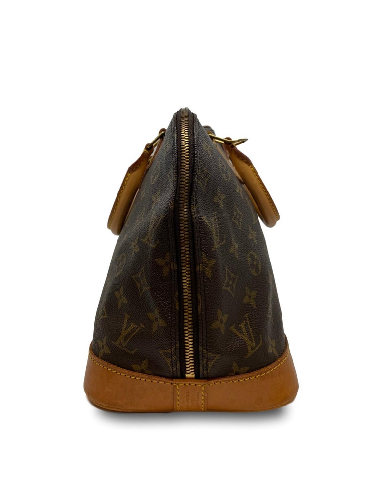 Louis Vuitton Alma PM Monogram Top Handle Handbag, France 1995. For Sale 3