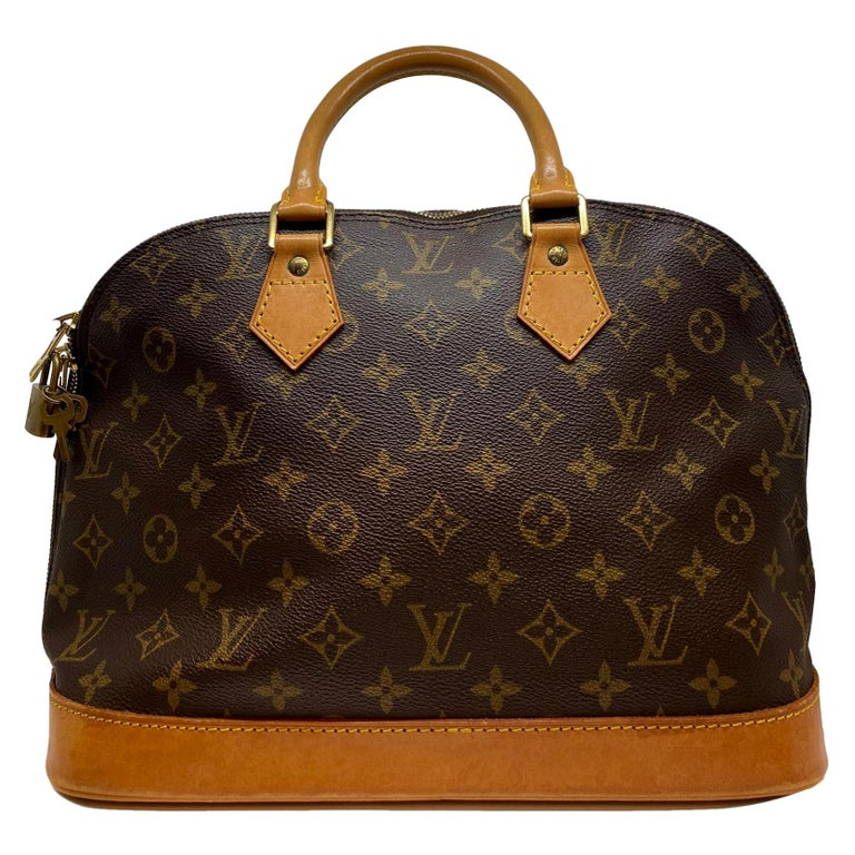 Louis Vuitton Alma PM Monogram Top Handle Handbag, France 1995. For Sale