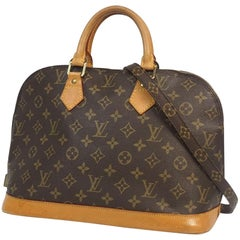 LOUIS VUITTON alma purchased separately w shoulder strap Womens handbag M51130