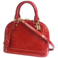 LOUIS VUITTON almaBB Verni Womens handbag M91606 red