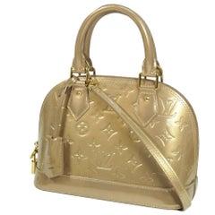LOUIS VUITTON almaBB Verni Womens handbag M91752 beige Poudre