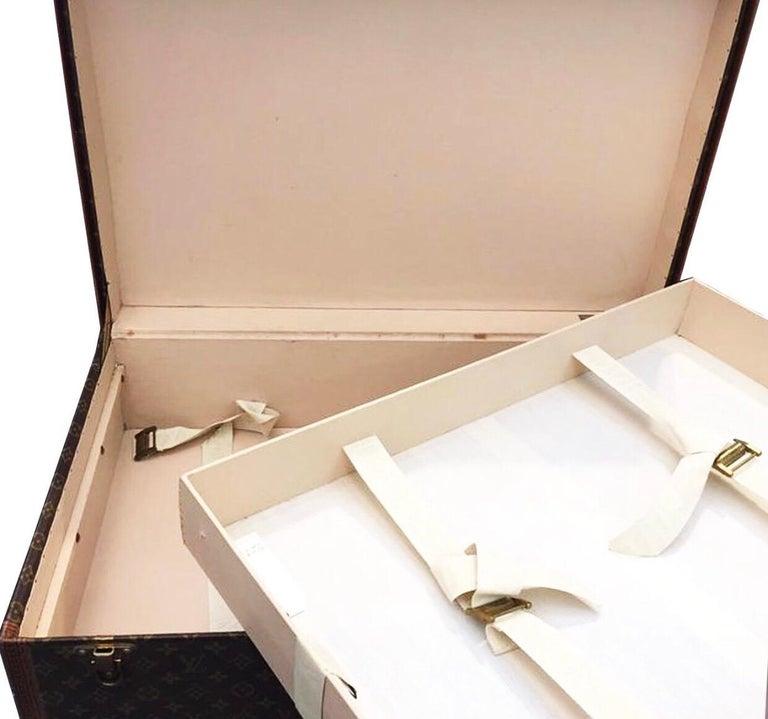 Brown Louis Vuitton Alzer 60 Luggage Bag, monogram canvas  For Sale