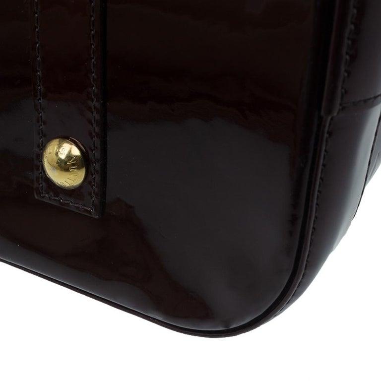 Louis Vuitton Amarante Monogram Vernis Alma GM Bag For Sale 7