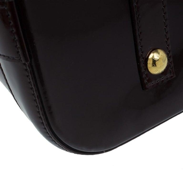 Louis Vuitton Amarante Monogram Vernis Alma GM Bag For Sale 8