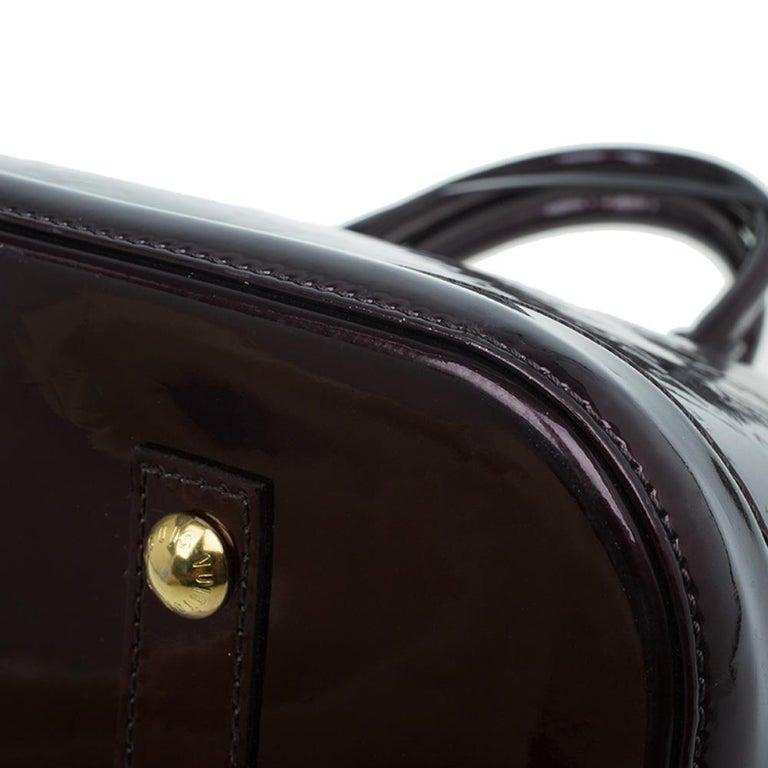 Louis Vuitton Amarante Monogram Vernis Alma GM Bag For Sale 9