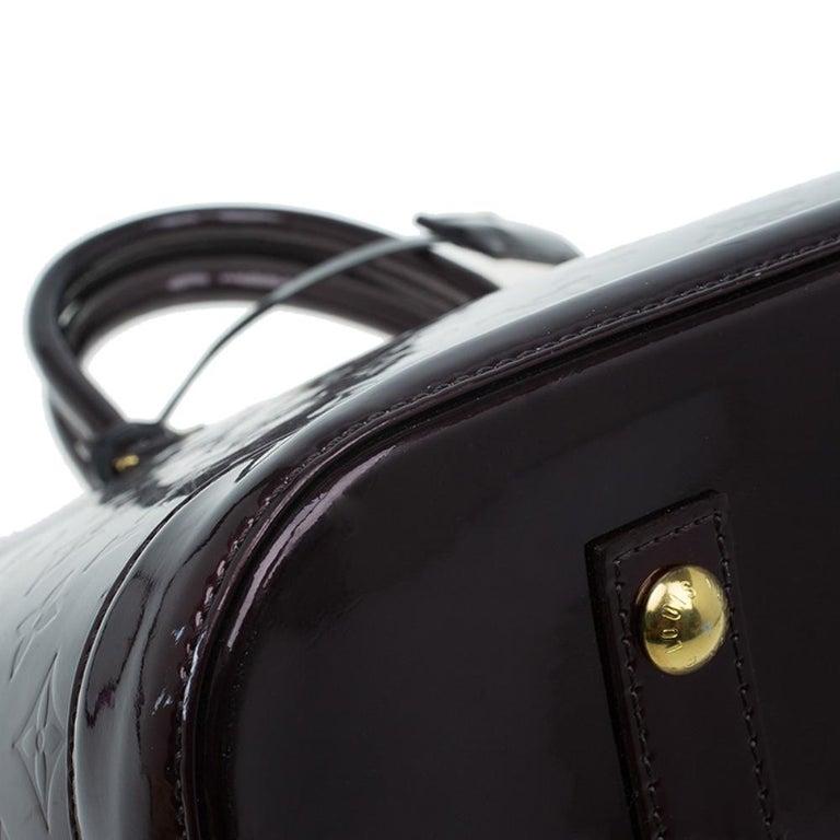 Louis Vuitton Amarante Monogram Vernis Alma GM Bag For Sale 10