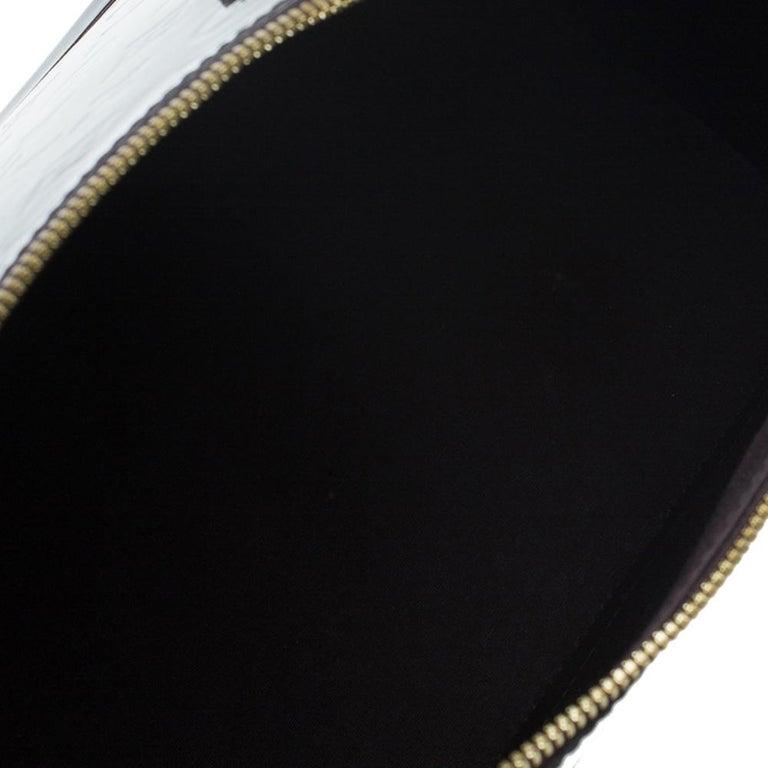Louis Vuitton Amarante Monogram Vernis Alma GM Bag For Sale 11