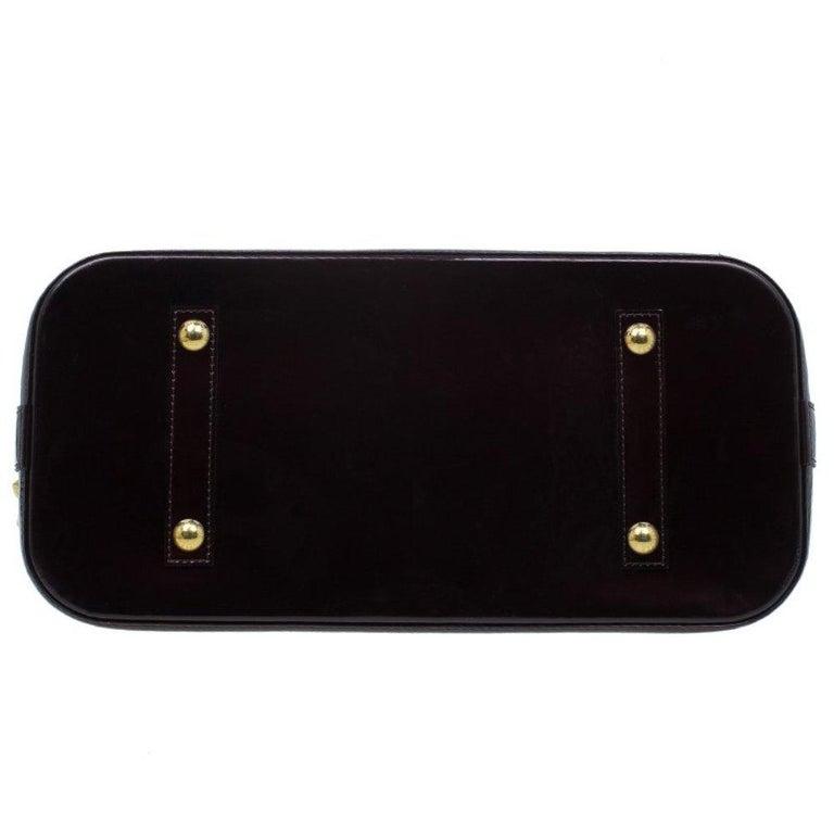 Louis Vuitton Amarante Monogram Vernis Alma GM Bag For Sale 1