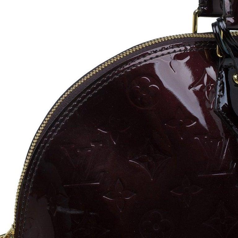 Louis Vuitton Amarante Monogram Vernis Alma GM Bag For Sale 3