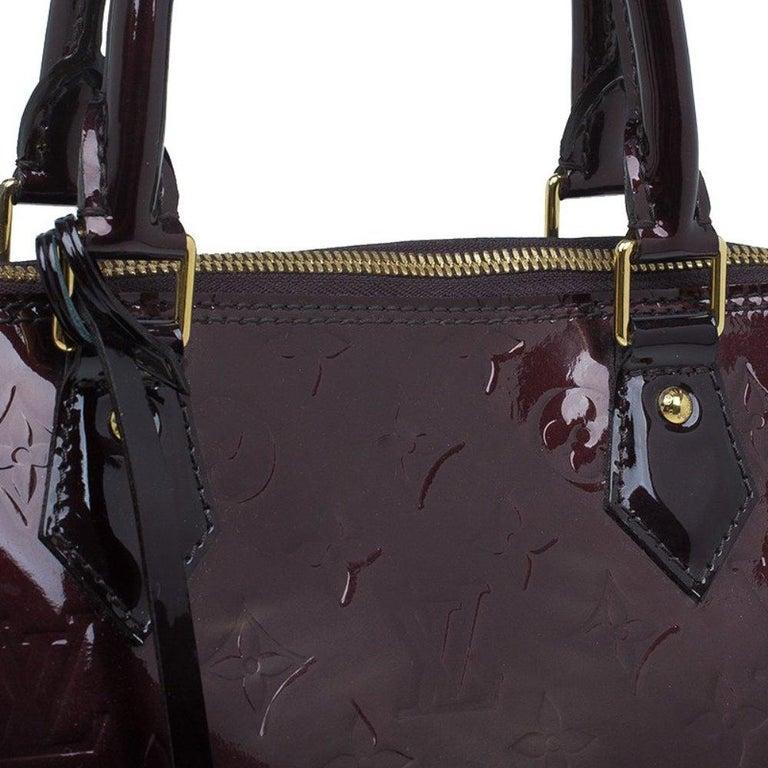 Louis Vuitton Amarante Monogram Vernis Alma GM Bag For Sale 4